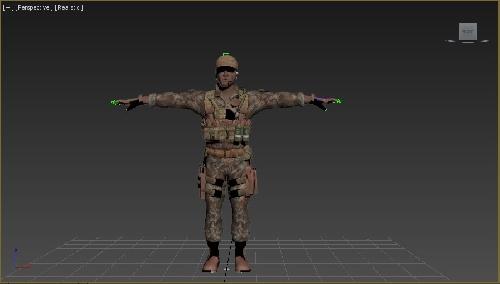 دانلود مدل سه بعدی کاراکتر ریگ شده سرباز یمنی
